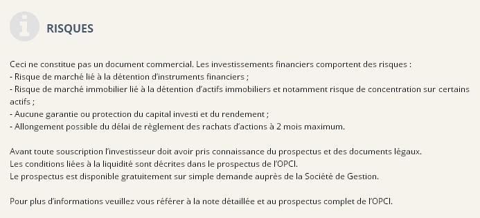Conseils sur la gestion OPCI OPCI FRANCEUROPE IMMO (P)