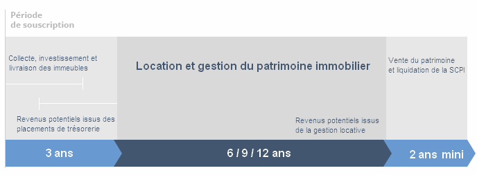 calendrier d'une SCPI Pinel